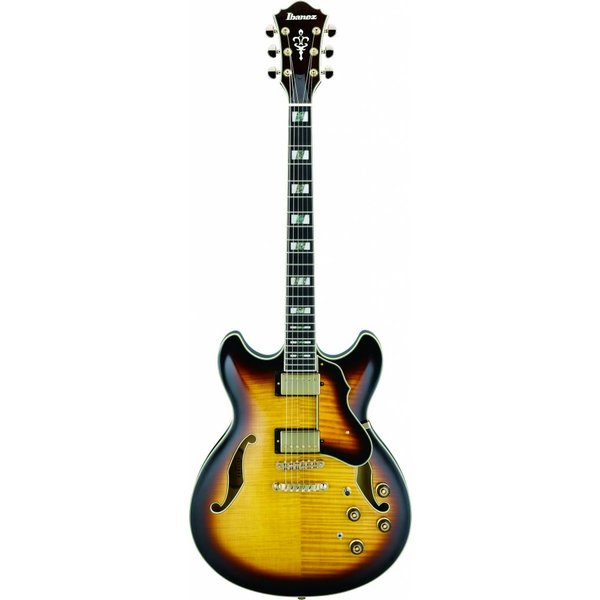Ibanez Ibanez AS153AYS Artstar Semi-Hollowbody Electric Antique Yellow Burst w/ Case