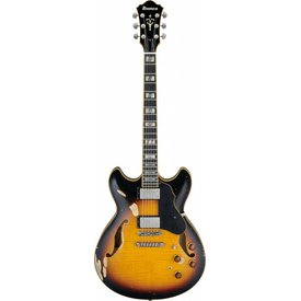 Ibanez Ibanez ASV100FMDYSL Artstar Semi-Hollowbody Electric Low Gloss Yellow Sunburst
