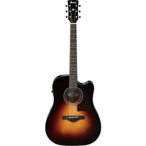 Ibanez AW4000CEBS Artwood Acoustic Electric Guitar, Brown Sunburst