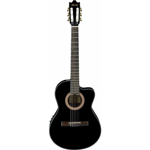 Ibanez GA35CEBKN CL Classical Electric Acoustic Cutaway Guitar Black Night