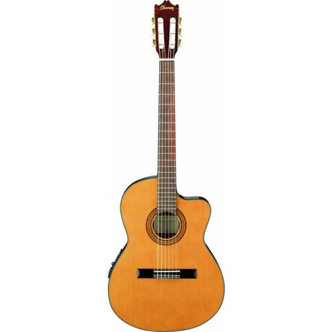 Ibanez GA5TCE GA Thinline Classical Acoustic Electric Cutaway Natural Spruce