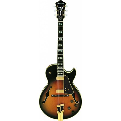 Ibanez GB10BS George Benson Signature Model Hollowbody Brown Sunburst w/ Case
