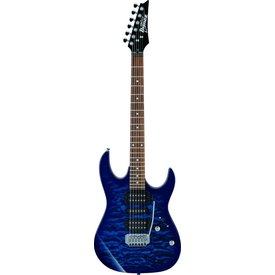 Ibanez Ibanez GRX70QATBB Gio (HSH?) Tremolo Electric Guitar Transparent Blue Burst