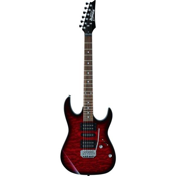 Ibanez Ibanez GRX70QATRB Gio Tremolo Electric Guitar Transparent Red Burst
