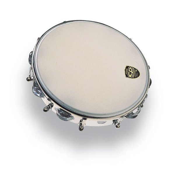 "LP CP 10"" Tambourine Tunable Metal Double Row"