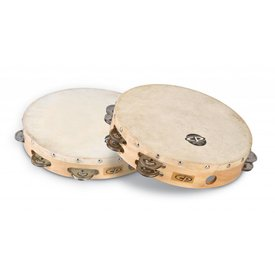 "LP CP 10"" Tambourine W/Head Double Row"