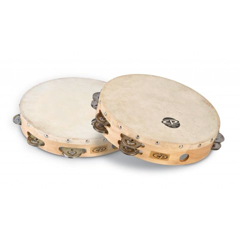 "CP 10"" Tambourine W/Head Double Row"