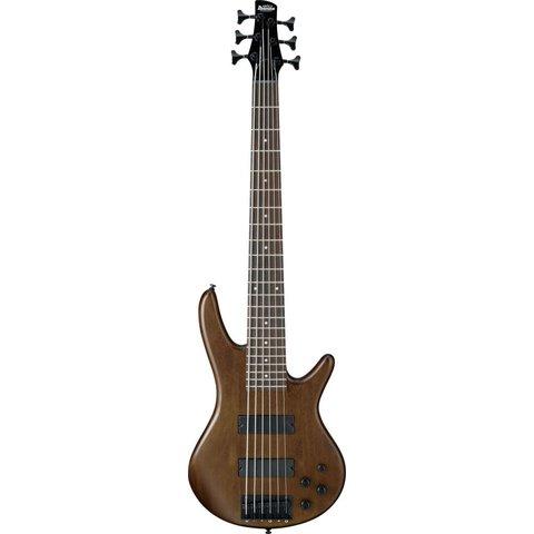 Ibanez GSR206BWNF Gio Soundgear 6-String Electric Bass Guitar Walnut Flat