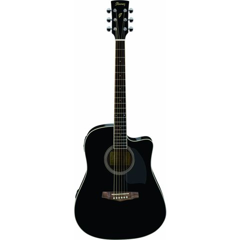 Ibanez PF15ECEBK Performance Acoustic Electric Guitar Gloss Black