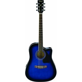 Ibanez Ibanez PF15ECETBS Performance Acoustic Electric Guitar Transparent Blue Sunburst