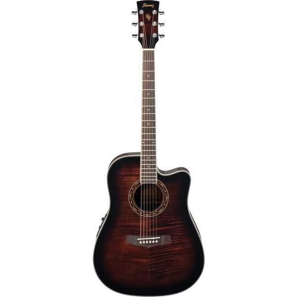 Ibanez Ibanez PF28ECEDVS Performance Acoustic Electric Guitar Dark Violin Sunburst