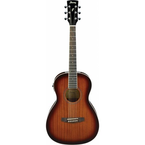 Ibanez PN12EVMS Performance Acoustic Electric Parlor Guitar Natural Mahogany