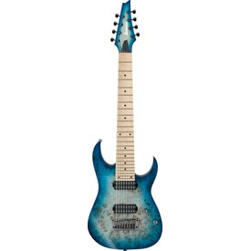 Ibanez Ibanez RG852MPBGFB RG Prestige 8-String Electric Ghost Fleet Blue Burst w/Case