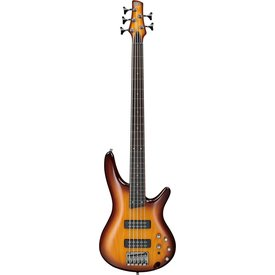 Ibanez Ibanez SR375EFBBT SR Soundgear 5-String Fretless Elect Bass Guitar Brown Burst