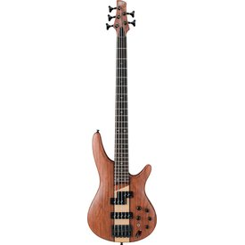 Ibanez Ibanez SR755NTF SR Soundgear 5-String Electric Bass Guitar Natural Flat