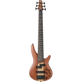 Ibanez Ibanez SR756NTF SR Soundgear 6-String Electric Bass Guitar Natural Flat
