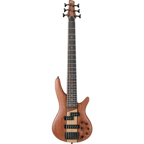 Ibanez SR756NTF SR Soundgear 6-String Electric Bass Guitar Natural Flat