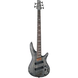 Ibanez Ibanez SRFF805BKS SR Soundgear 5-String Fanned Fret Electric Bass Black Stained
