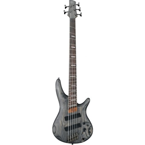 Ibanez SRFF805BKS SR Soundgear 5-String Fanned Fret Electric Bass Black Stained