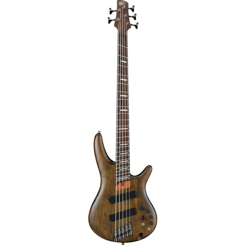 Ibanez SRFF805WNFSR Soundgear 5-String Fanned Fret Electric Bass Walnut Flat