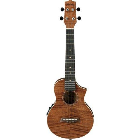 Ibanez UEW15E EW Concert Cutaway Ukulele Flamed Maple