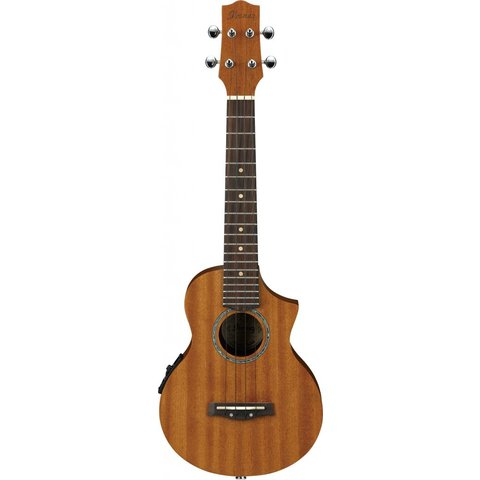 Ibanez UEW5E EW All Mahogany Concert Acoustic Electric Cutaway Ukulele Natural