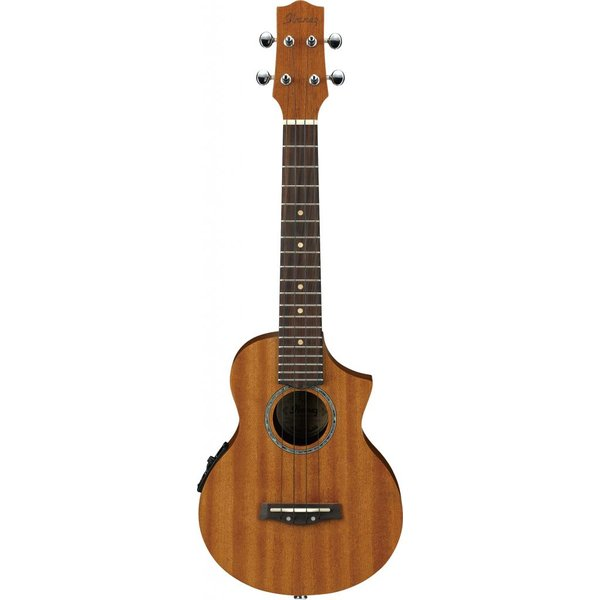 Ibanez Ibanez UEW5E EW All Mahogany Concert Acoustic Electric Cutaway Ukulele Natural