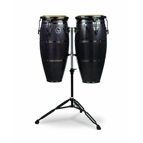 "LP 10"" & 11"" Highline Congas w/ Matador Stand, Ebony Stain"