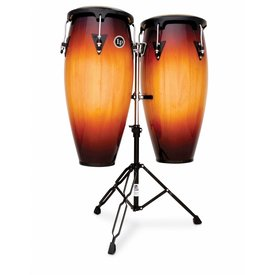 "LP LP Aspire 11"" & 12"" Wood Conga Set w/ Double Stand Vintage Sunburst"