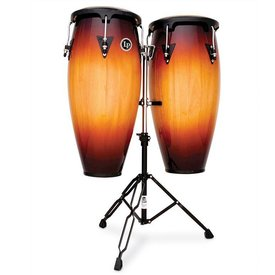 "LP LP Aspire 10"" & 11"" Wood Conga Set w/ Double Stand Vintage Sunburst"