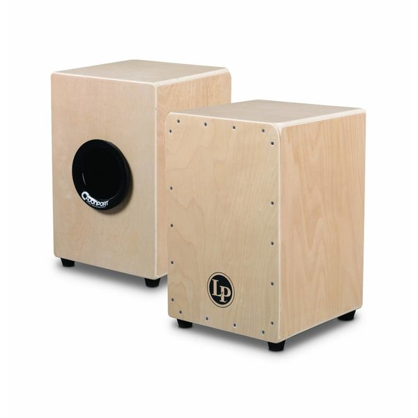 LP LP Aspire Tour Snare Cajon, Cajon Port, Bag Natural