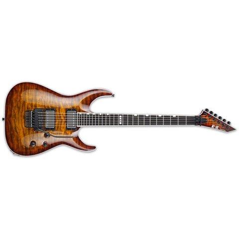 ESP E-II Horizon Electric Guitar w/ Floyd Rose, Tiger Eye Sunburst