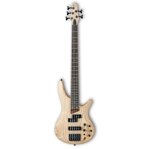 Ibanez SR655NTF SR Soundgear 5-String Electric Bass Guitar Natural Flat