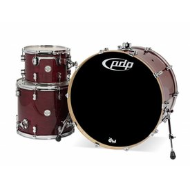PDP PDP Concept Maple Cherry Stain Lacquer - Chrome Hardware 3 Pcs