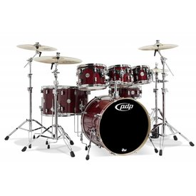 PDP PDP Concept Maple Cherry Stain Lacquer - Chrome Hardware 7 Pcs