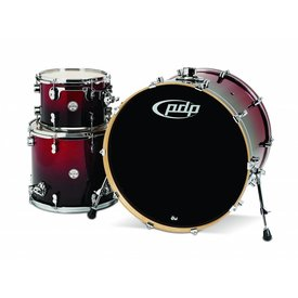 PDP PDP Concept Maple Red To Black Fade - Chrome Hardware 3 Pcs
