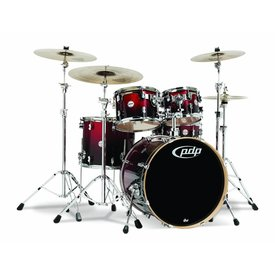 PDP PDP Concept Maple Red To Black Fade - Chrome Hardware 5 Pcs