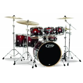 PDP PDP Concept Maple Red To Black Fade - Chrome Hardware 7 Pcs