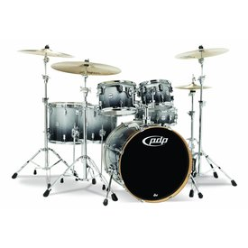 PDP PDP Concept Maple Silver To Black Fade - Chrome Hardware 6 Pcs