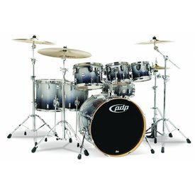 PDP PDP Concept Maple Silver To Black Fade - Chrome Hardware 7 Pcs