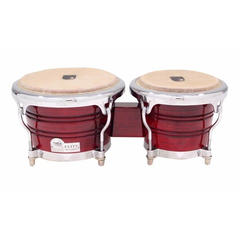 Toca Elite Pro Wood Bongos Crimson Maple Fade