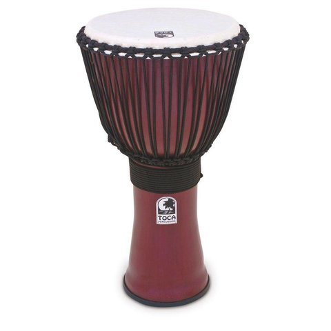 "Toca Freestyle 2 Djembe 14"" Red w/ Bag"