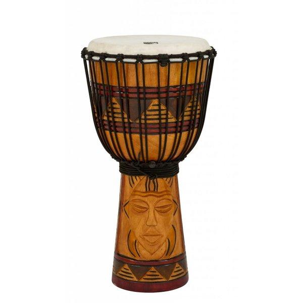 "Toca Toca Origins Wood Djembe 10"" Tribal Mask"