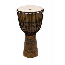 "Toca Toca Origins Wood Djembe 12"" African Mask"