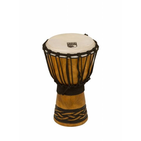 "Toca Origins Wood Djembe 7"" Celtic Knot Finish"