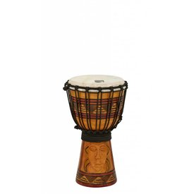 "Toca Toca Origins Wood Djembe 7"" Tribal Mask"