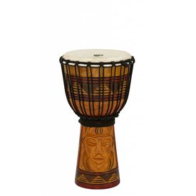 "Toca Toca Origins Wood Djembe 8"" Tribal Mask"