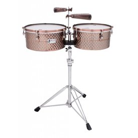 "Toca Toca Pro Line Timbales 14""/15"" w/ Stand Black Copper"