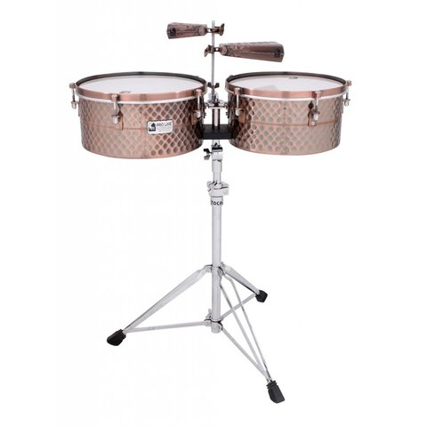 "Toca Pro Line Timbales 14""/15"" w/ Stand Black Copper"