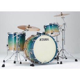 "TAMA Tama Starclassic Maple Exotix 24"" BD 3Pc Shell Kit Figured Caribbean Sea Blue"